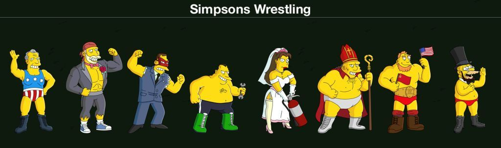 Simpsons Wrestling k